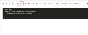 code block icon