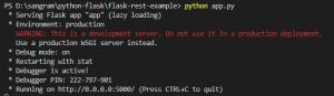 run python app